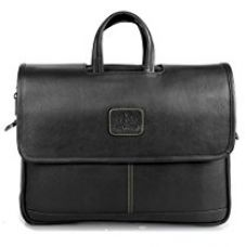 Buy The Clownfish Signature Series Shoulder Laptop Bag and Tablet Briefcase 15.6-Inch (Black) from Amazon