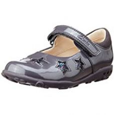 Buy Clarks Girl's Ella Glow Fst Anthracite Leather First Walking Shoes - 4 UK from Amazon