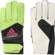 Buy Adidas AI6853-4 Handschuhe Ace Young Pro Polyurethane Goalkeeper Gloves, Kids Size 4 (Solar Green/Core Black/Shock Pink) from Amazon