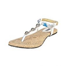 Buy Azores Women's Casual PM Flats - White from Amazon