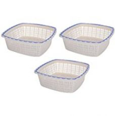 Nayasa Plastic Jingle Basket Set No 2, Set of 3, Blue for Rs. 186