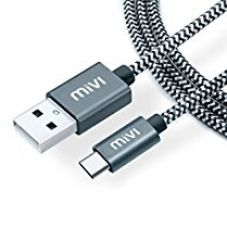 Buy Mivi Type C USB C To USB A 3.0 6 Ft Long Nylon Braided Tough Cable from Amazon