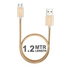 Buy MTT Nylon Braided Tangle Free Metal Connector Head Dual Side Reversible Micro USB (1.2M, Gold) from Amazon