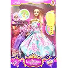 Buy Toymart Doll Set Like Barbie With Dresses And Accessories ( Random Colors ) from Amazon