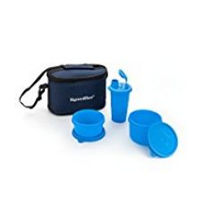 Buy Signoraware Combo Small Executive Lunch with Bag, T Blue from Amazon