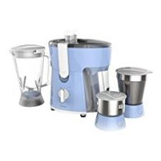 Buy Philips Amaze HL7576/00 600-Watt Juicer Mixer Grinder with 3 Jars (Celestial Blue/Bright White) from Amazon