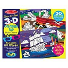 Melissa & Doug Easy-to-See 3-D Kids' Coloring Pad - Dinosaurs, Knights, Space, and More, Multi Color for Rs. 399