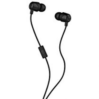 Buy Skullcandy S2DUL-J448 In-Ear Headphones with Mic ,Black from Amazon