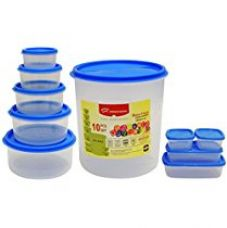 Buy Princeware SF Package Container Set, 10-Pieces, Blue from Amazon