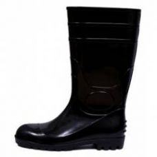 Fortune Jumbo 14 Inch Black Steel Toe Safety Gumboot, Size: 7