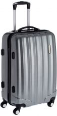 Buy Airmate Polycarbonate 65 cms Silver Hard sided Suitcase (AM002) from Amazon