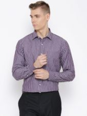Get 50% off on Striped Slim Fit Smart-Casual Shirt