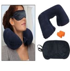 Buy Pickadda Three Travelling Treasures Kit Neck Cushion Pillow With Two Ear Buds And Eye Mask for Rs. 95