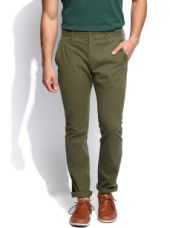 Men Olive Green Trousers for Rs. 1479