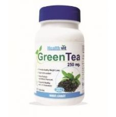 Healthvit Green Tea Powder 250 mg - 60 Capsules for Rs. 1,027