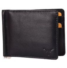 Hidekraft Black Genuine Leather Money Clip for Rs. 449