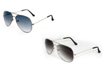 Get 60% off on Combo of 2 Aviator Style Sunglasses (In Case & Wiping Cloth)(Goggles)