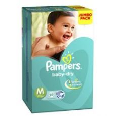 Pampers Medium Size Diapers Jumbo Pack (66 Count) for Rs. 828