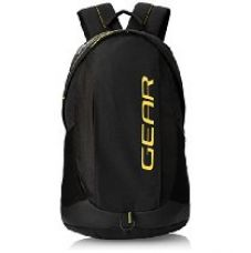 Buy Gear 27 ltr Black and Yellow Casual Backpack (BKPOTLNR80112) from Amazon