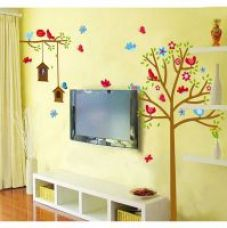 Walltola Wall Decal-Sweet Birds And Nest Trees ( Covering Area 180130cm) for Rs. 99