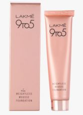 Flat 25% off on Lakme Rose Ivory 9 To 5 Weightless Mousse Foundation