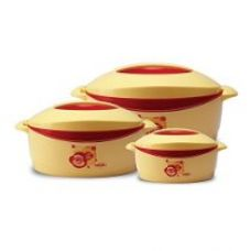 Milton Trumph Casserole Gift set, 3-Piece, Red (EC-THF-FTK-0027) for Rs. 751