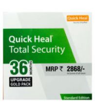 Flat 54% off on Quick Heal Total Security 1 PC 3 Year Upgrade for Renewal