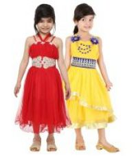 Buy Tiny Toon Pack of 2  Party Wear Dresses For Kids for Rs. 799