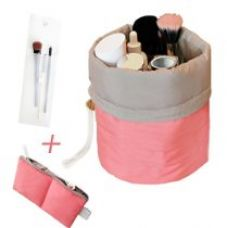 PackNBUY PEACH Cushioned Travel Toiletry Organizer Bag with Mini Zipper Purse and Transparent Pouch for Rs. 599