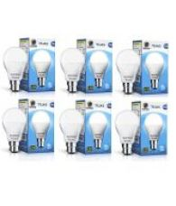 Buy Wipro 9W Pack of 6 Led Bulbs - Cool Day Light for Rs. 569
