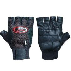 Flat 89% off on Body Maxx Leather Multipurpose GYM Gloves With Padded Palm Support & Net Upside