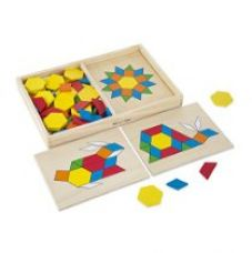 Buy Melissa & Doug 29 Pattern Blocks and Boards from Amazon