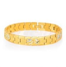 Sukkhi Classic Gold And Rhodium Plated Bracelet for Men for Rs. 469