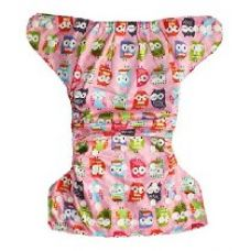 Buy Soft Baby Reusable babysoft Cloth Diaper with Microfiber Inserts - Pink Multicolour Owl from Amazon
