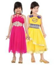 Tiny Toon Pack of 2  Party Wear Dresses For Kids for Rs. 699