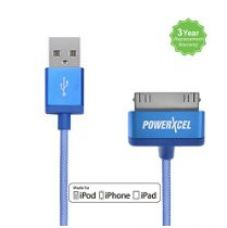 PowerXcel 30 Pin to USB Cable - Blue for Rs. 500