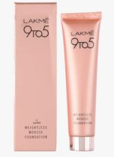 Flat 25% off on Lakme Beige Vanilla 9 To 5 Weightless Mousse Foundation