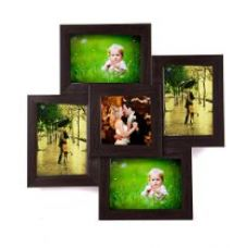 Buy WENS 5-Picture MDF Photo Frame (17 inch x 17 inch, Brown) from Amazon