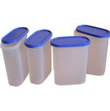 Tupperware Modular Mates Oval Plastic Container 4 Set, 2.3 Litres, 4-Pieces, Multicolor for Rs. 2,003