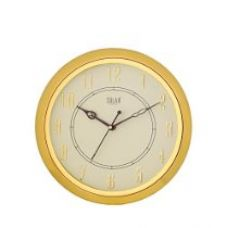 Solar Sweep Round Plastic Wall Clock (29 cm x 29 cm x 3 cm, Gold) for Rs. 324