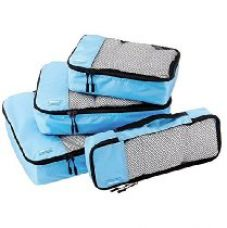 AmazonBasics Packing Cubes - Small, Medium, Large, and Slim, Sky Blue (4-Piece Set) for Rs. 999
