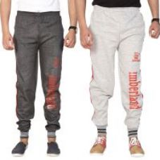 Get 69% off on Swaggy Grey,Black Running Track Pants For Mens (Pack Of 2 )