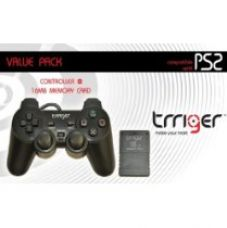 Buy PS2 Controller & Memory Card 16 MB Trigger Value Pack from Amazon