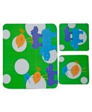 Flat 10% off on Fly Frog Hippo Printed Mouse Pad And Coasters