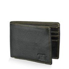 TSX Black Faux Leather Wallet for Rs. 319