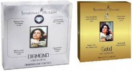 Buy Shahnaz Husain Timeless Diamond & GoldFacial Kit (combo),Excellent For Young Girls 80 g  (Set of 2) for Rs. 278