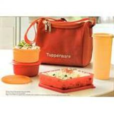 Tupperware Best Lunch Set with Bag, 4-Pieces, Orange for Rs. 760
