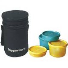 Tupperware Executive Plastic Lunch Set with Bag, 4-Pieces for Rs. 659