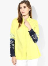 Get 33% off on W Yellow Solid Blouse