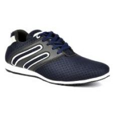 Footlodge Men's Blue White Lace-Up Casual Shoes for Rs. 399